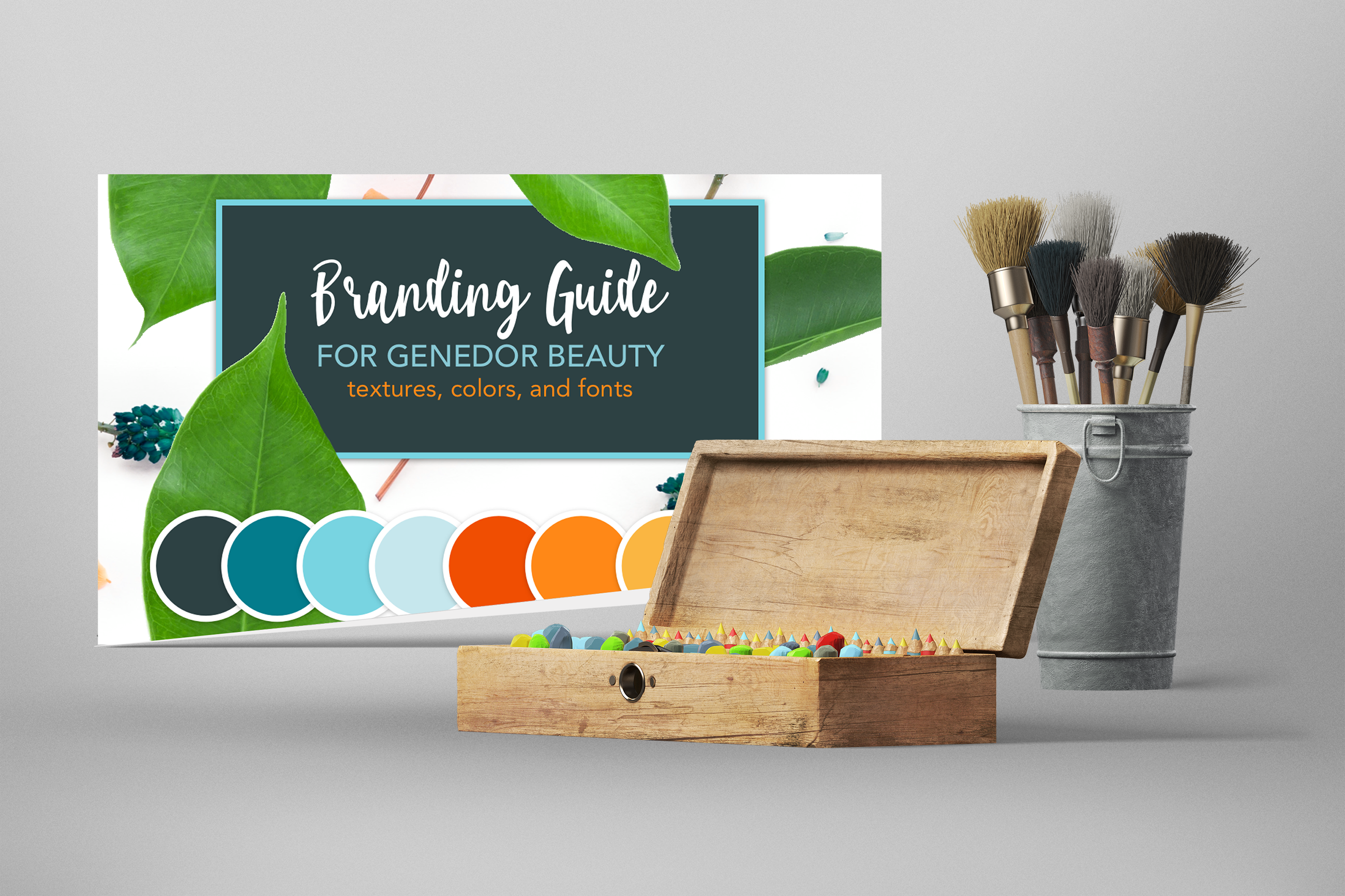 Graphic Design of Branding Guide for Retail Beauty Company