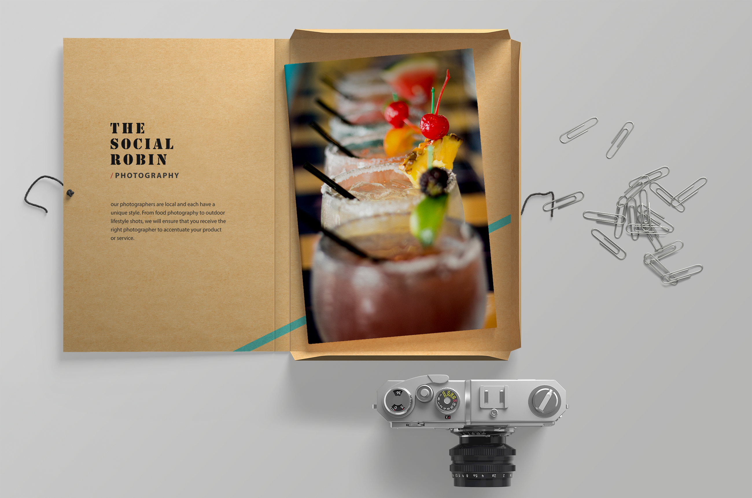 Graphic Design of Food Photography for a Restaurant
