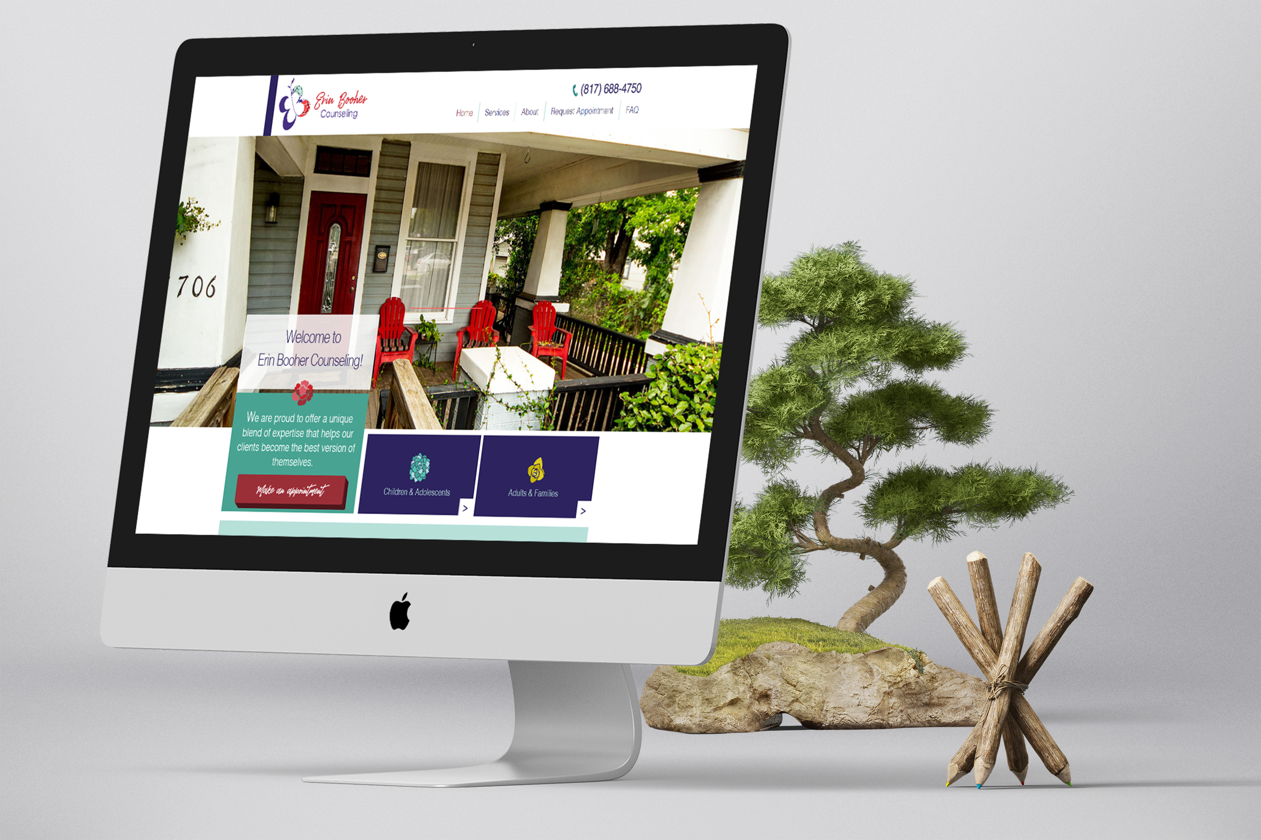 Graphic Design of a Website Design for a Counselor